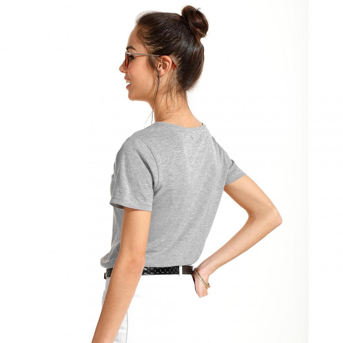 Bodies femme 3 SUISSES Cliquez l image pour l agrandir. Body manches  courtes imprimé femme Exclusivité 3SUISSES - gris chiné ... 1b5630593a3