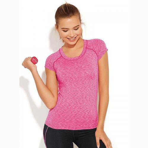 ea8aa35fb1c5 3 SUISSES - Tee-shirt manches courtes maille flammée femme - Noir - T-