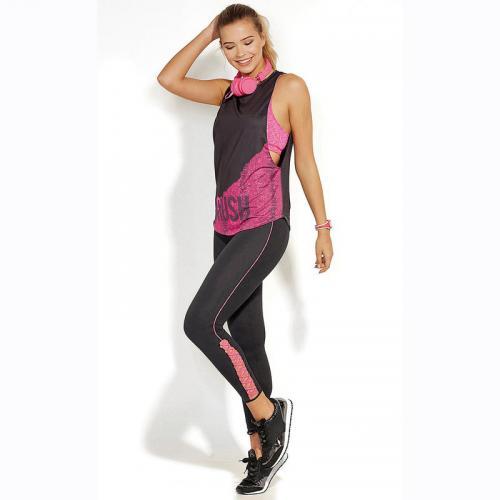 e78ff8f793d19 3 SUISSES - Legging sport lanières croisées sur bas femme - Noir - Vêtement  de sport