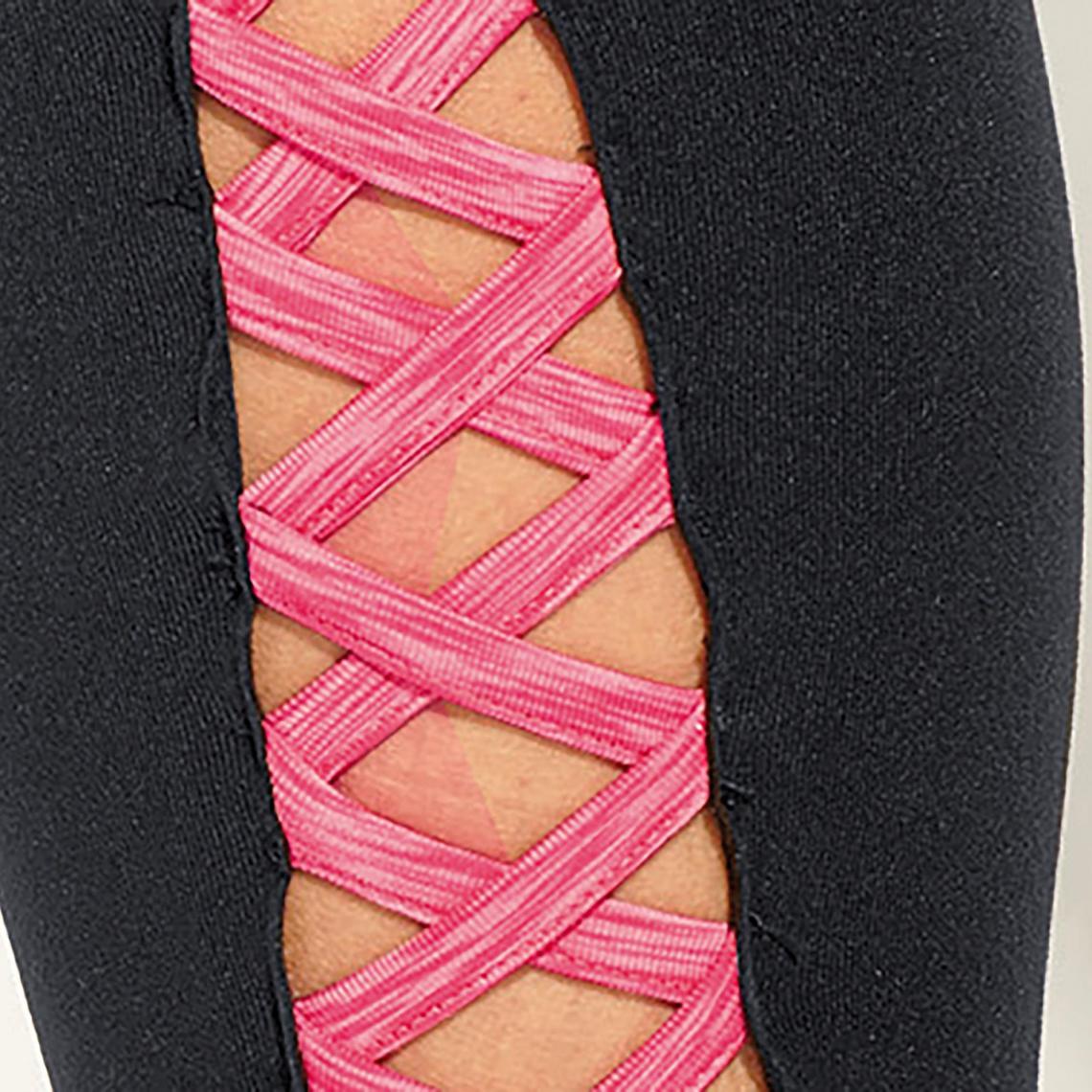 Pantalons de sport femme 3 SUISSES Cliquez l image pour l agrandir. Legging  sport lanières croisées sur bas femme Exclusivité 3SUISSES - Noir ... 626090c90e5