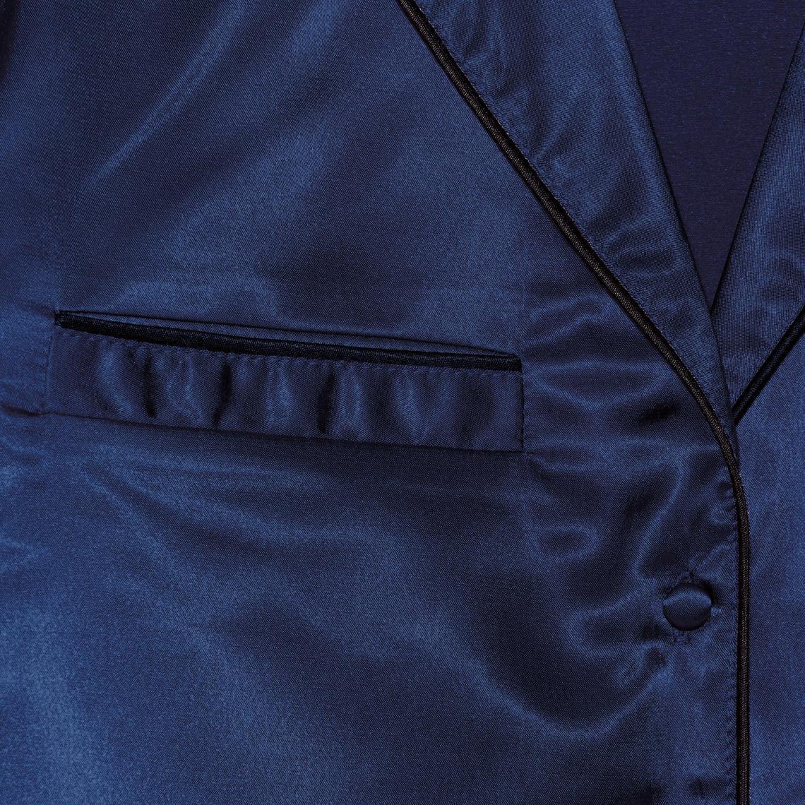 Pyjama en satin blouse et pantalon femme Exclusivité 3SUISSES - Bleu Nuit 3  SUISSES 17405c080a1