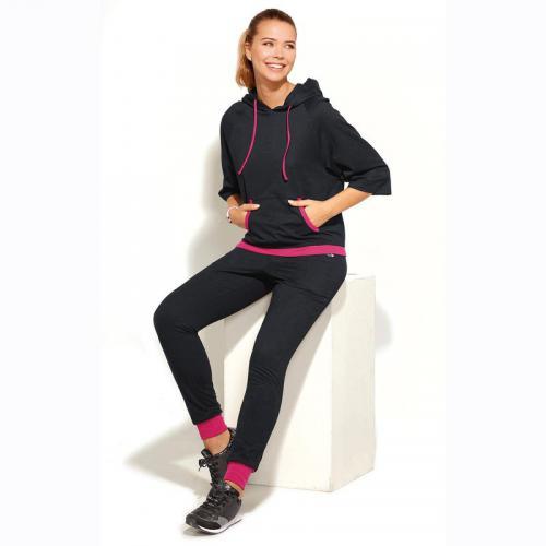 1364a73ab98ad 3 SUISSES - Pantalon taille et bas élastiqués cordon femme - Noir - Vêtement  de sport
