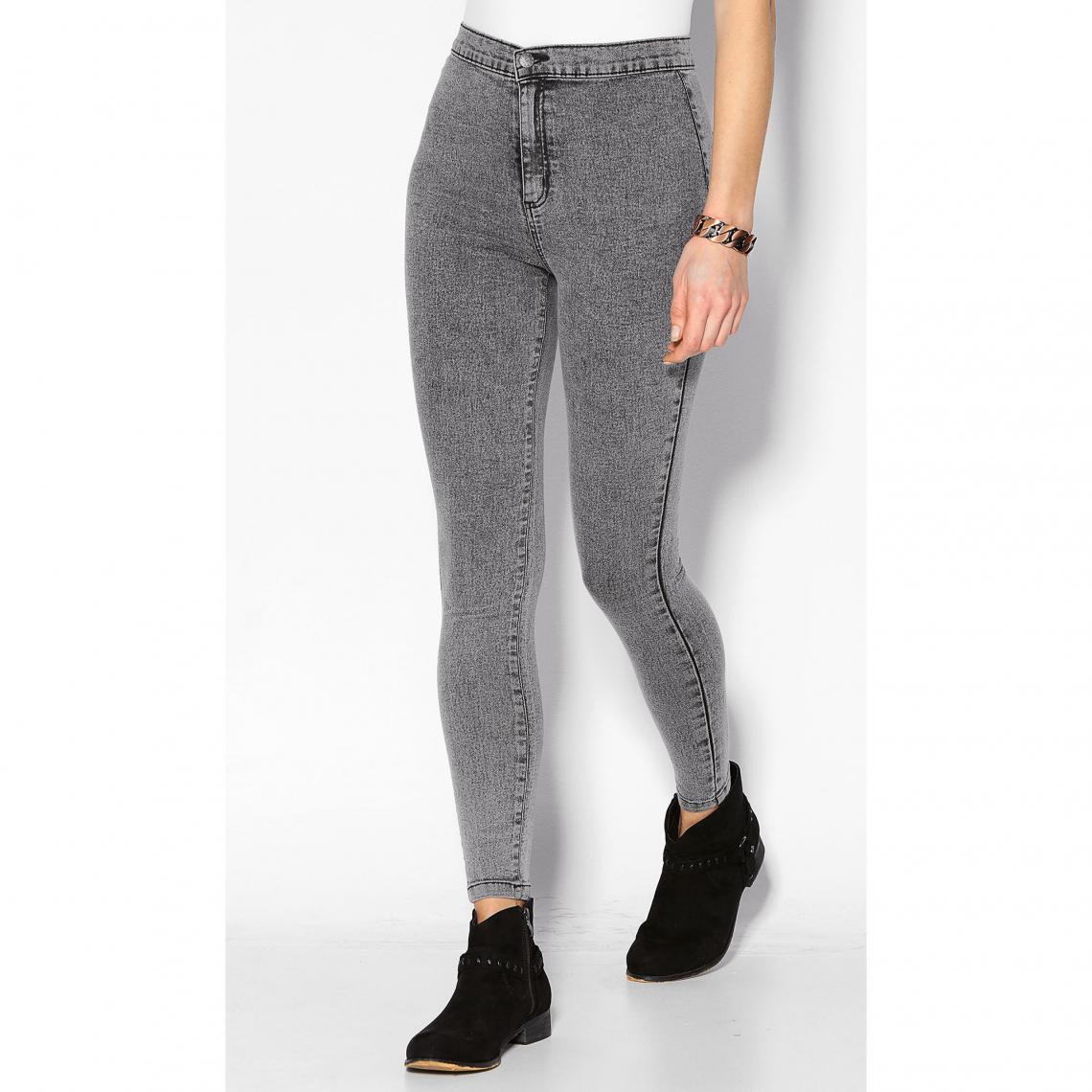 latest discount cute order online Jean taille haute coupe skinny femme - Denim Noir | 3 SUISSES