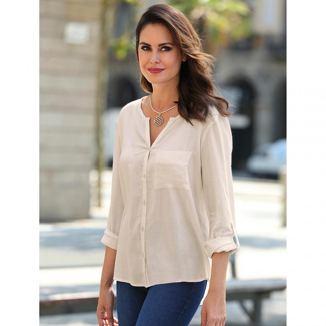 Chemise femme - Blanc - 3 SUISSES - Modalova