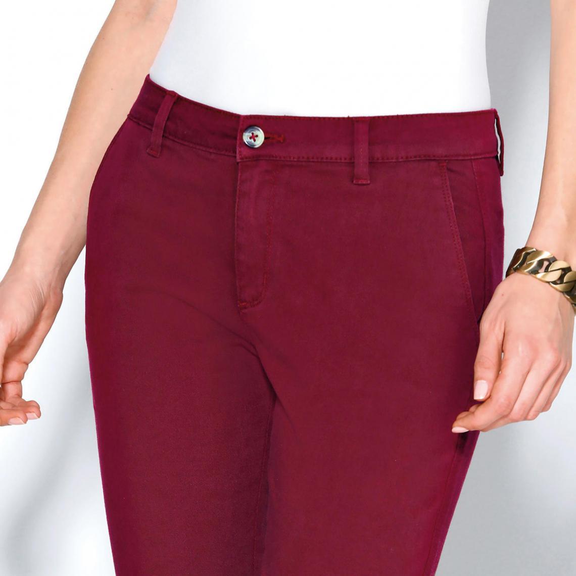 d287d055dc6e Pantalon poches et pinces femme - Rouge Grenat