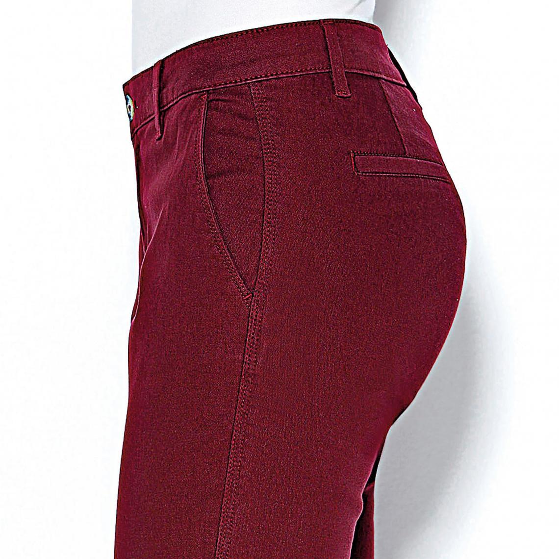 f25e19e3e383 Pantalon poches et pinces femme - Rouge Grenat 3 SUISSES