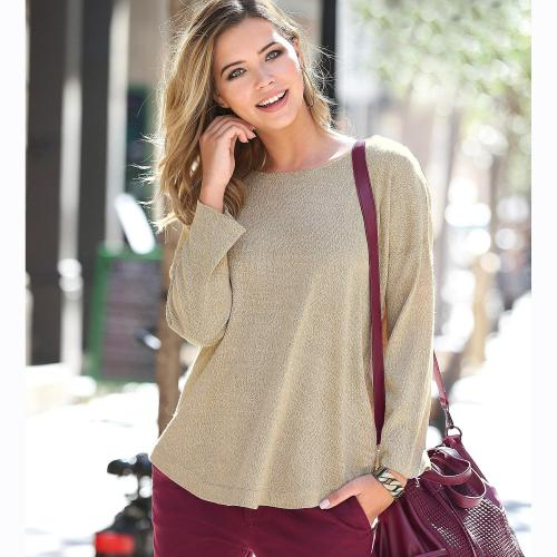 3 SUISSES - PULL MANCHES LONGUES MAIL - Pulls femme a2fe923c7eb