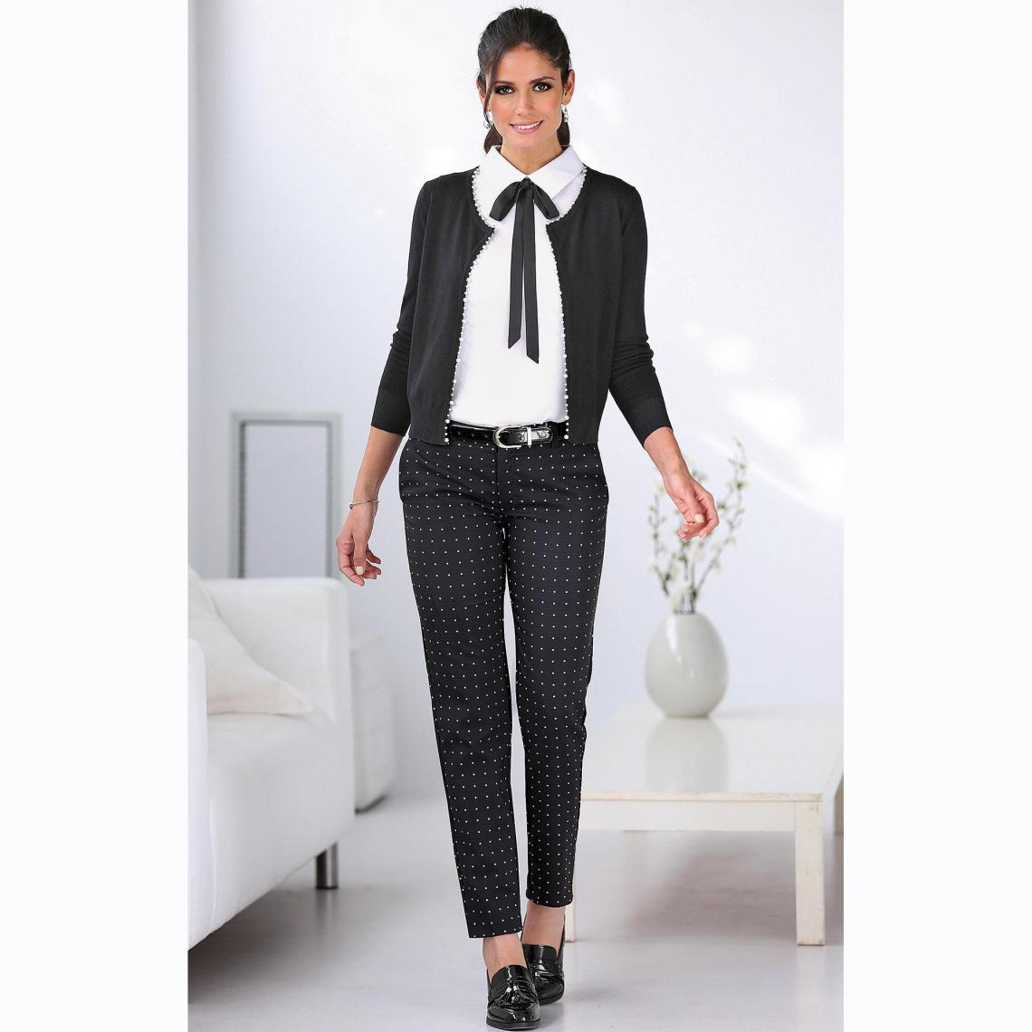 Pantalon chino imprimé pinces et poches - Autres - 3 SUISSES - Modalova