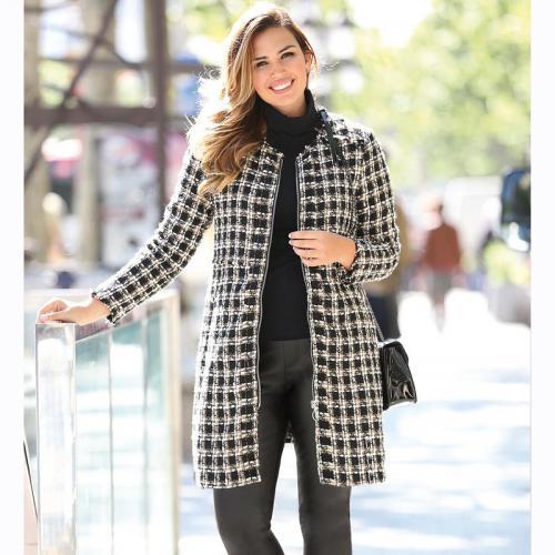 Exclusivité Écru Effiloché Manteau Noir Longues Femme Manches 3suisses HH1Spc