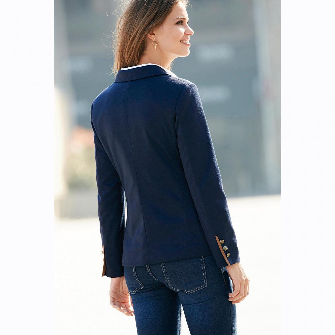 Veste manches longues double boutonnage femme Bleu 4 Avis