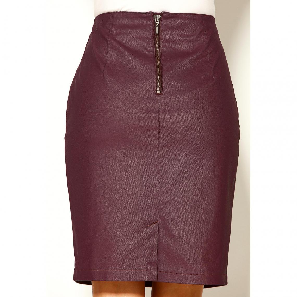 15cd0d1b686 Jupe crayon courte fendue poches fantaisie femme - Rouge 3 SUISSES