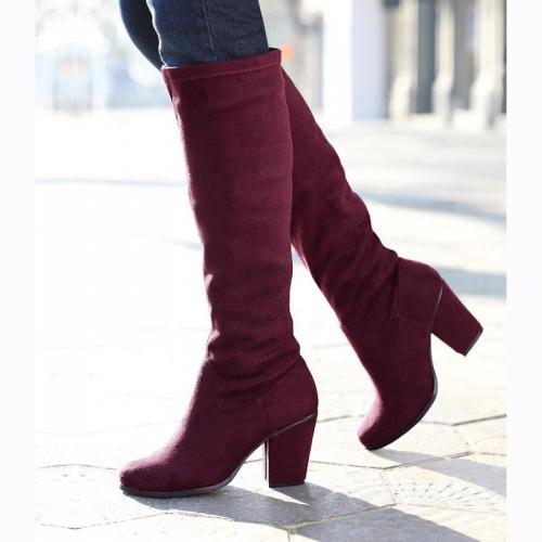 3 Suisses - Bottes talon carré femme Exclusivité 3SUISSES - Lie De Vin -  Chaussures femme dcf593ee9bf3