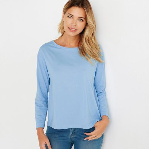 6fc6829091906 3 Suisses - Tee-shirt carré manches longues femme Exclusivité 3SUISSES -  Bleu - T