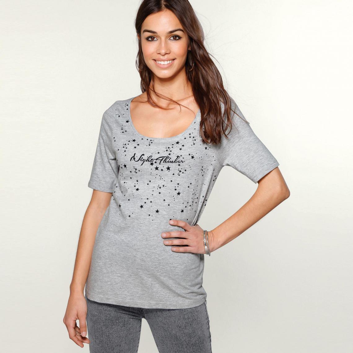 Tee-shirt imprimé manches aux coudes femme Exclusivité 3SUISSES ... 7547e9d37c1