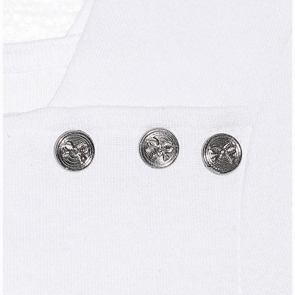 Tee-shirt col carré manches 3/4 boutons femme - Blanc 3 SUISSES