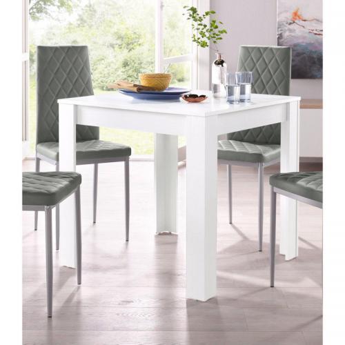 table salle manger carr e 4 personnes gris 3 suisses. Black Bedroom Furniture Sets. Home Design Ideas