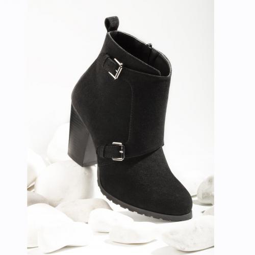 Noir Boucles Femme Zip Métalliques Et Bottines Doublées rdhCxtsQ