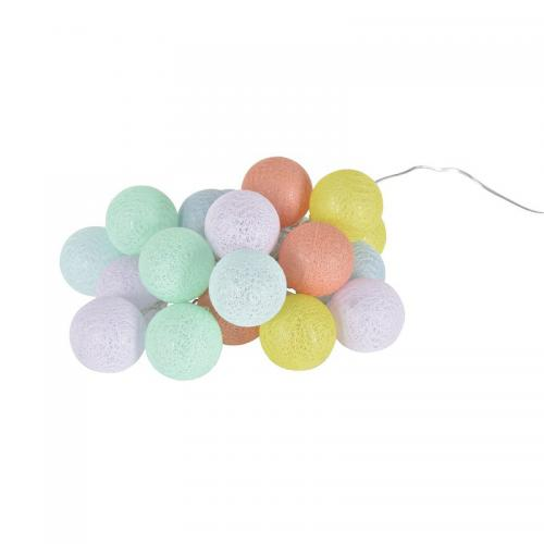 3S. x Collection - Guirlande lumineuse 20 boules - Multicolore - Décoration lumineuse