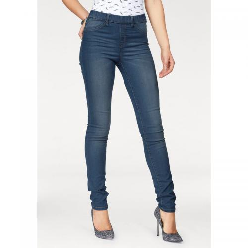 3 SUISSES - Jean jegging taille haute femme Arizona - Bleu Used