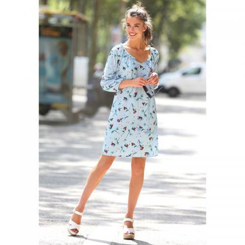 3 SUISSES - Robe tunique manches 3 4 imprimée femme Exclusivité 3SUISSES -  Imprimé Bleu f8d12d588aa