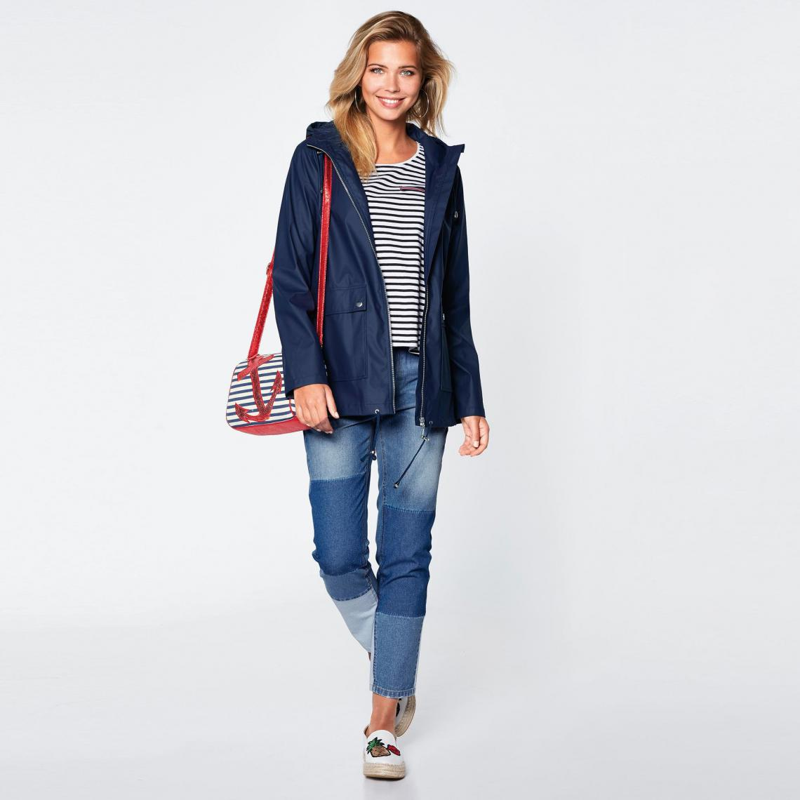 Jean 5 poches slim taille haute patchs COLLECTION - 3 SUISSES - Modalova