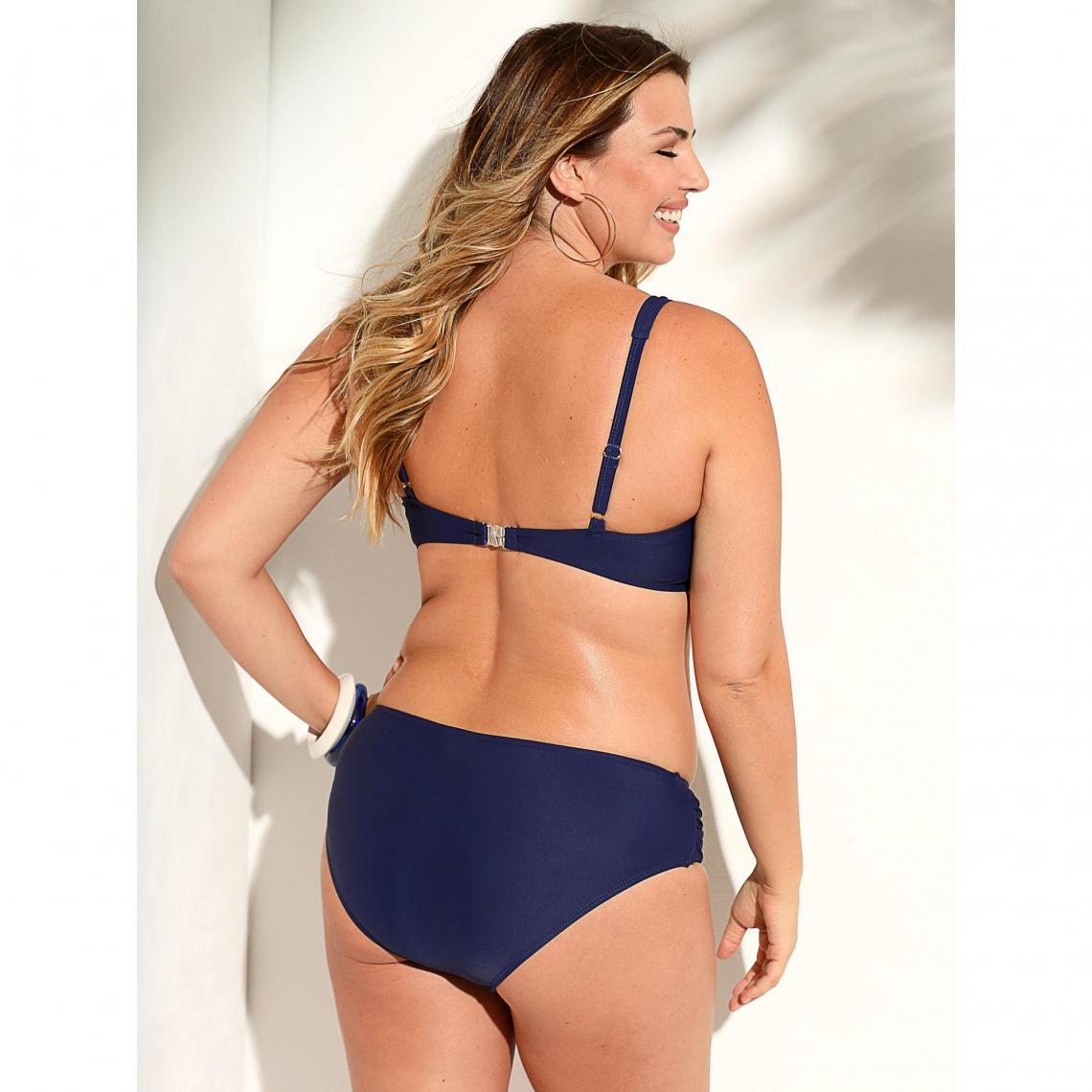 eb65364b442c2 Bikini uni bandeau et culotte taille haute femme Exclusivité ...