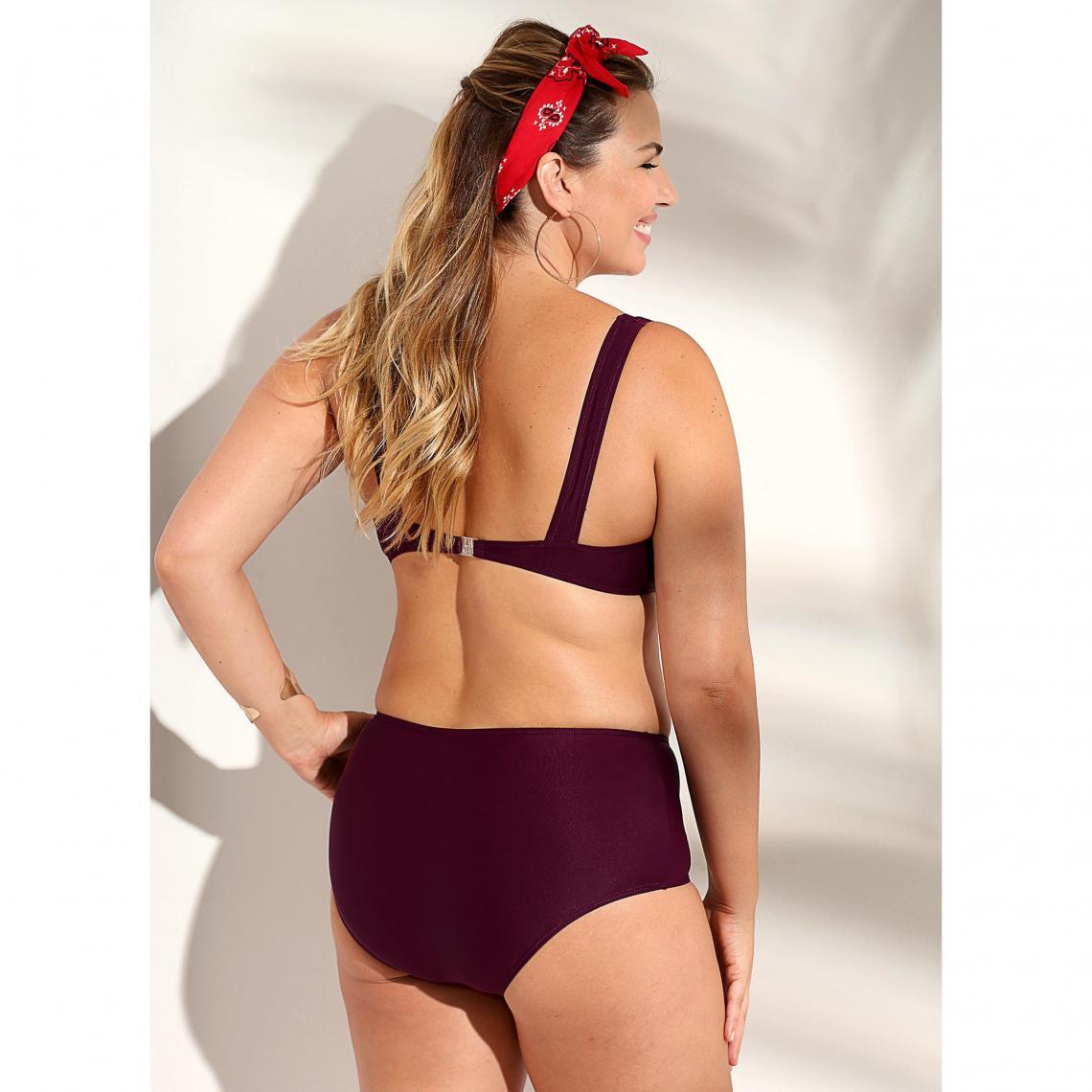 62f96fa584 Bikini uni à armatures culotte ventre plat femme - Lilas | 3 SUISSES