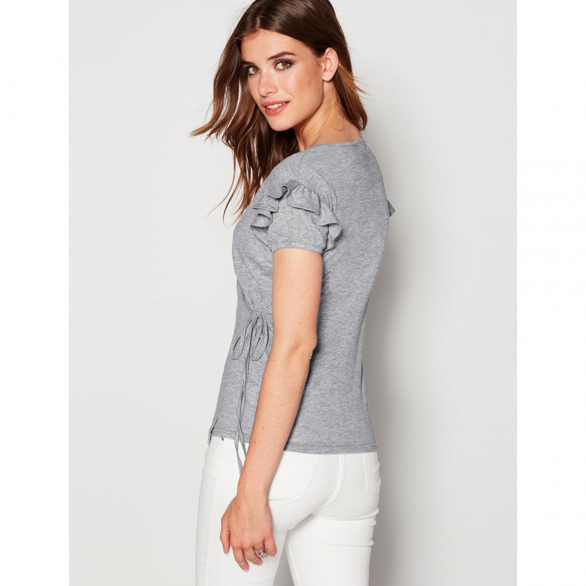 ... manches courtes femme Exclusivité 3SUISSES - gris chiné 3 Cliquez  l image pour l agrandir. T-shirts imprimés femme 3 SUISSES b5d3bccacf8