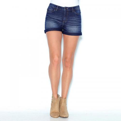 3 SUISSES - Short en jean coupe 5 poches bas à revers femme Exclusivité  3SUISSES - 29c10cb4c7d