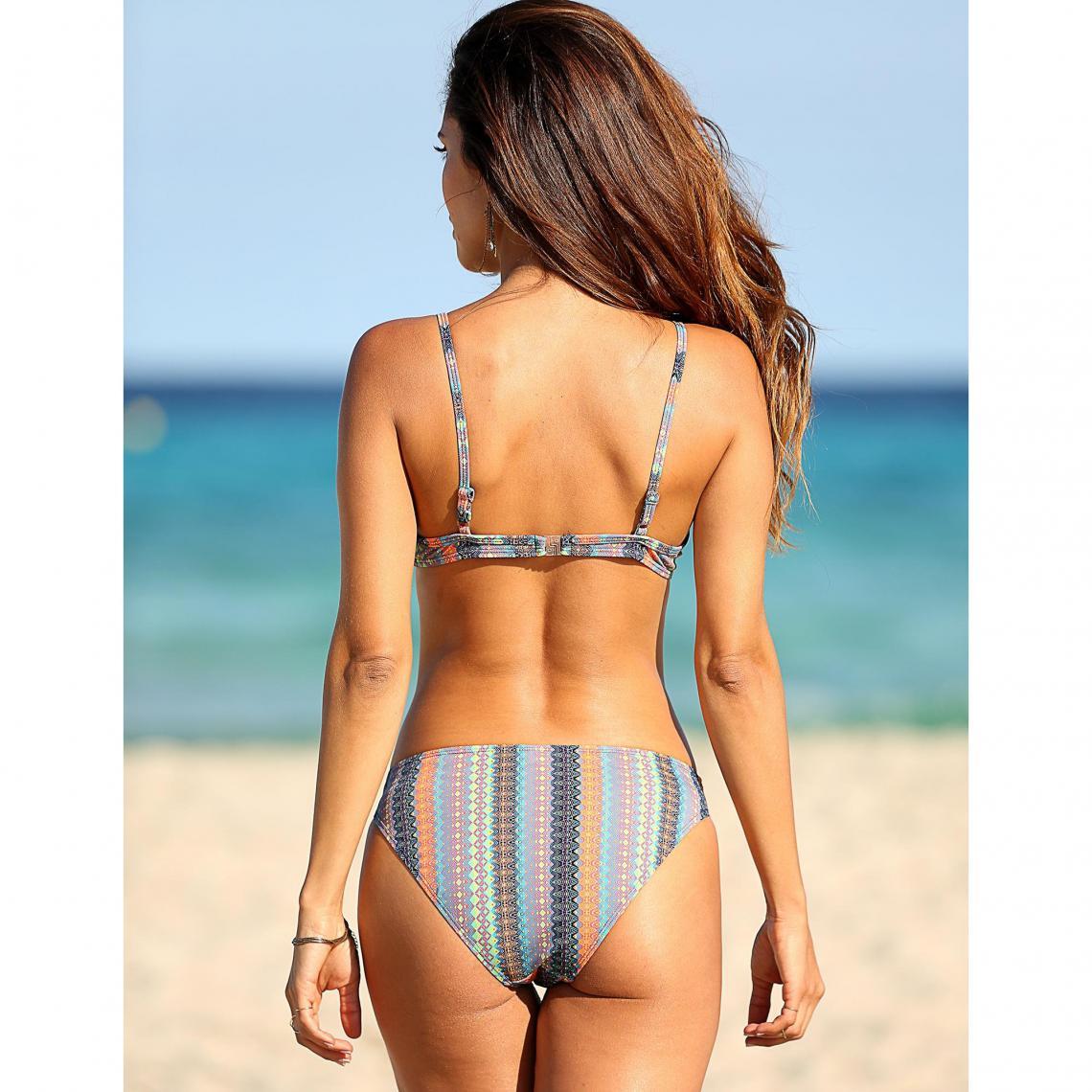Ajustables Bikini Suisses Imprimé Femme Multicolore3 Bretelles QBshtrCdx