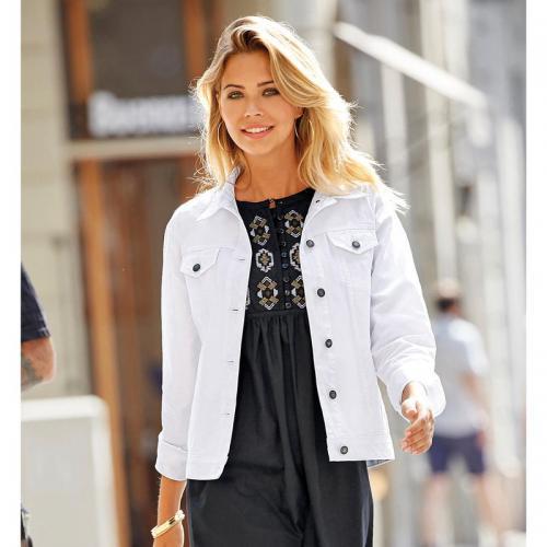 3 SUISSES - Veste cintrée boutonnée manches longues femme Exclusivité  3SUISSES - Blanc - Vestes blazers 49b256a8a19