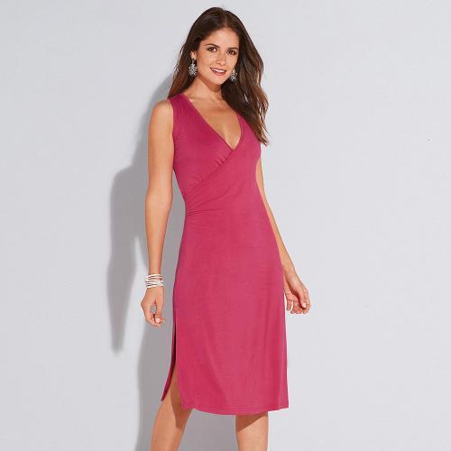 0c7ce4b04cd3 3 SUISSES - Robe mi-longue femme - Rouge - Robes de plage