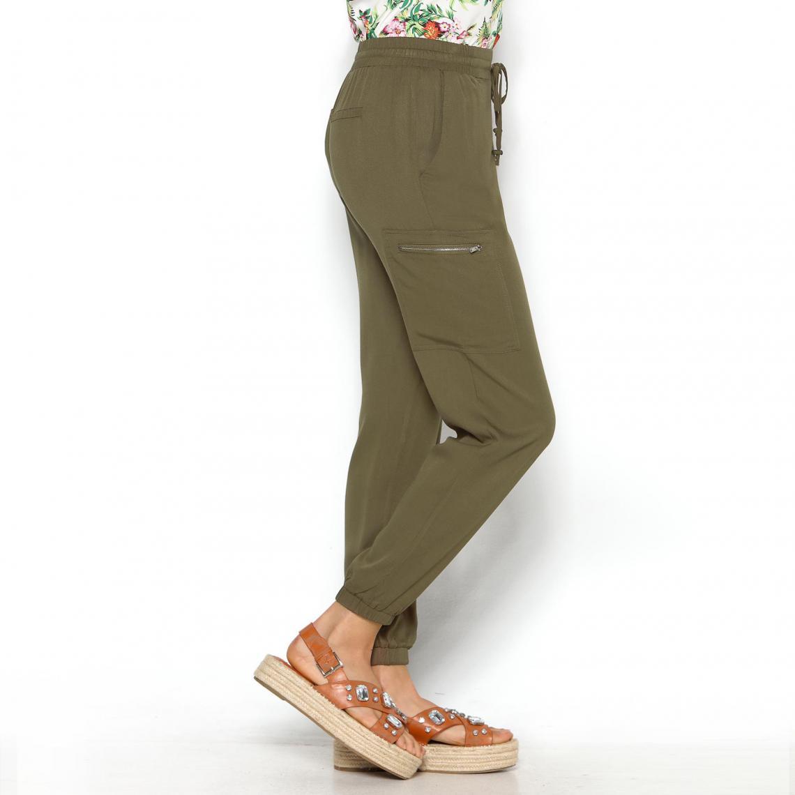 Pantalon taille et bas élastiques poches femme Exclusivité 3SUISSES ... 27be9661f99