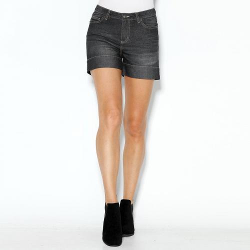 3 SUISSES - Short en jean coupe 5 poches bas à revers femme Exclusivité  3SUISSES - 29c10cb4c7d