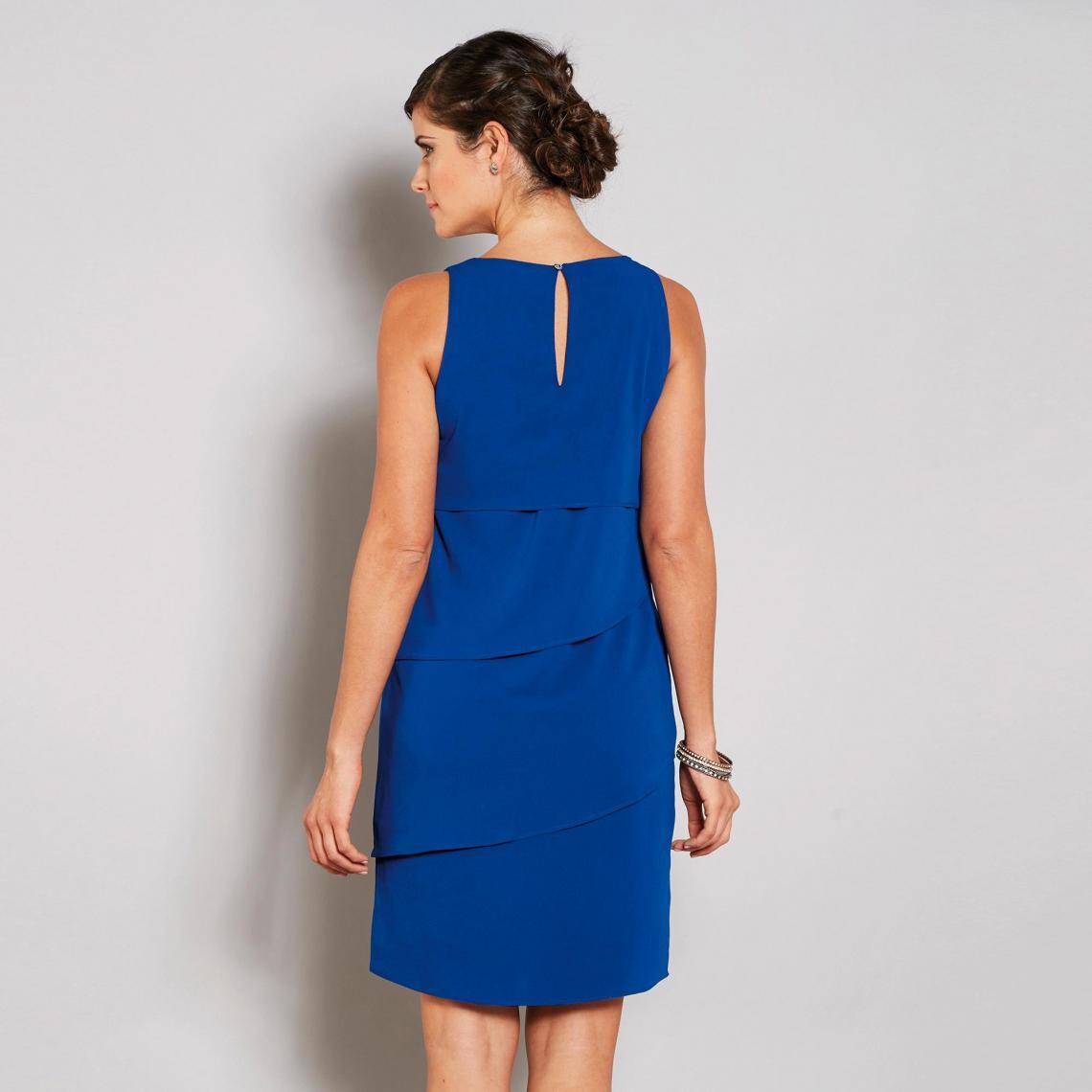 Robe Courte Sans Manches Effet Superposé Femme Bleu 3 Suisses
