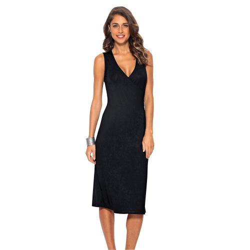 5913252b63eb 3 SUISSES - Robe mi-longue femme - Noir - Robes de plage