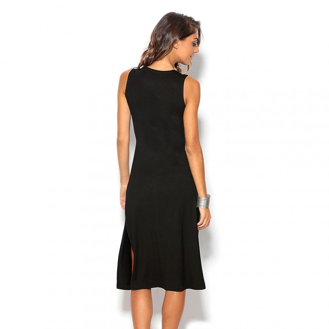 6cabe678201 Robe mi-longue femme - Noir
