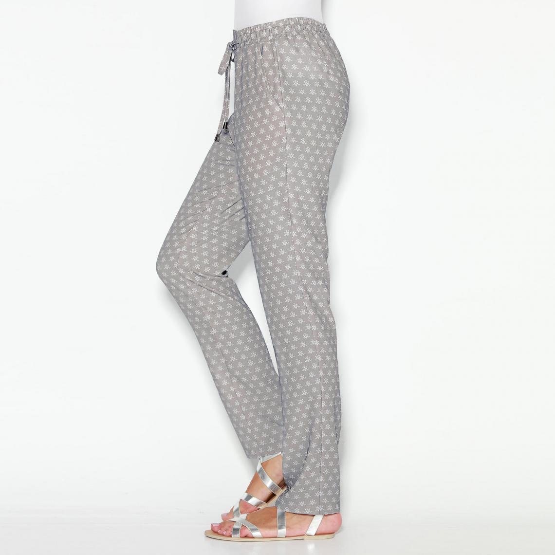 Pantalon imprimé élastique taille cordon et Exclusivité femme wRwa1q a93c8357a52