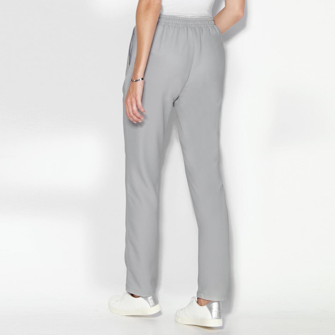 Pantalon uni taille élastique et cordon femme Exclusivité 3SUISSES - Gris  Perle 3 SUISSES fdec2039ba4