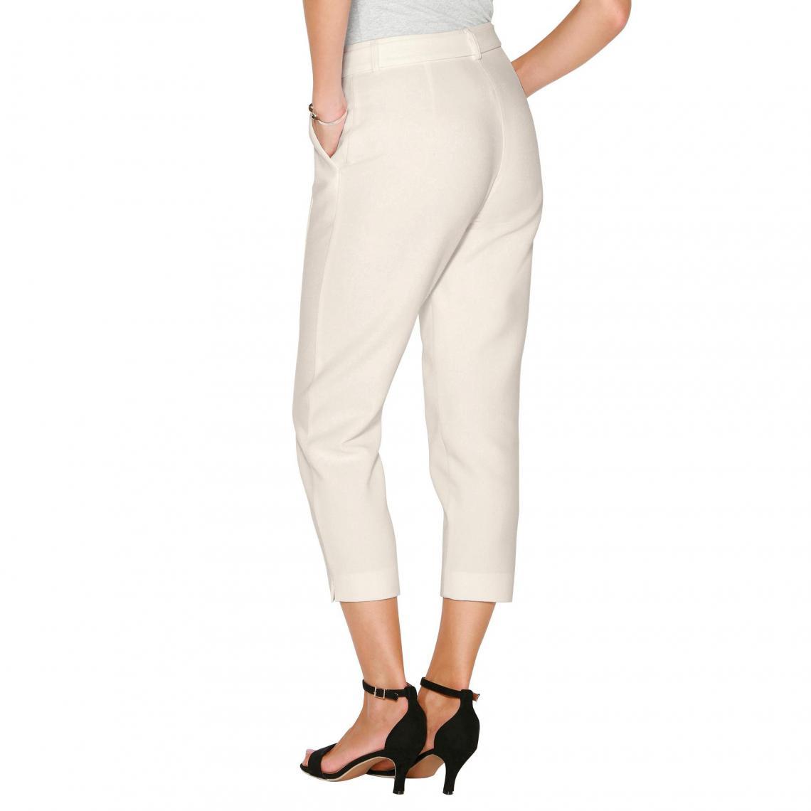 051f193b159 Pantalon avec ceinture à nouer et bas fendus femme - écru 3 SUISSES