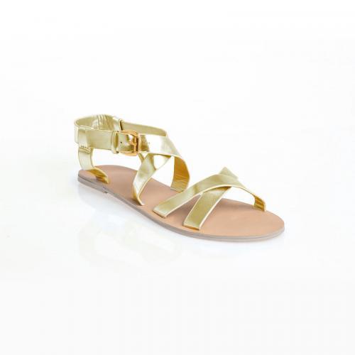 525797888d6861 3 SUISSES - Sandales plates femme - Gris - Chaussures femme