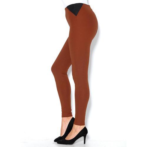 f4062d4c450 3 SUISSES - Legging taille haute empiècements contrastés femme - Bleu -  Leggings femme