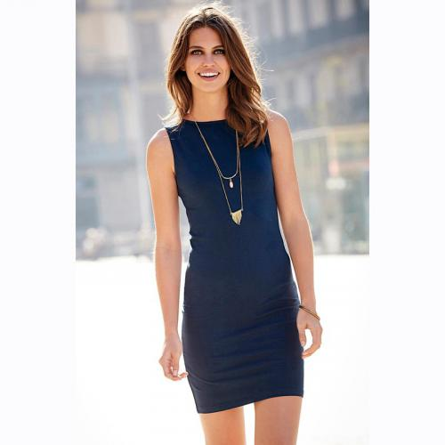 0c76f950d4ba 3 SUISSES - Robe courte femme - Bleu - Robes de soirée