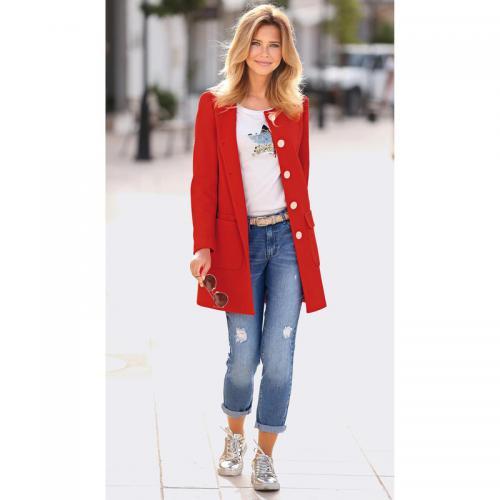 bdbbd4b4cbe3e 3 Suisses - Manteau cintré avec boutons et poches femme Exclusivité  3SUISSES - Corail - Manteaux