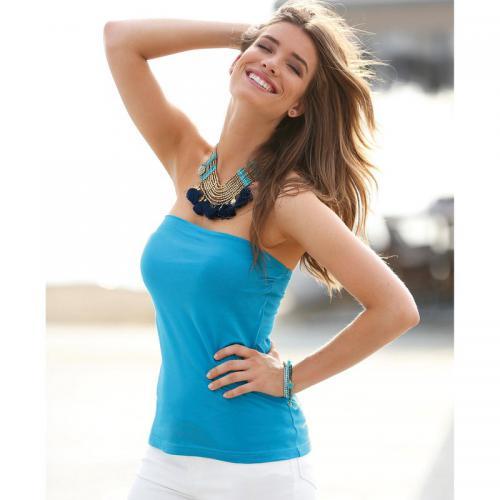 60d2fd50aa4e1 3 Suisses - Top femme Exclusivité 3SUISSES - Turquoise - T-shirts femme