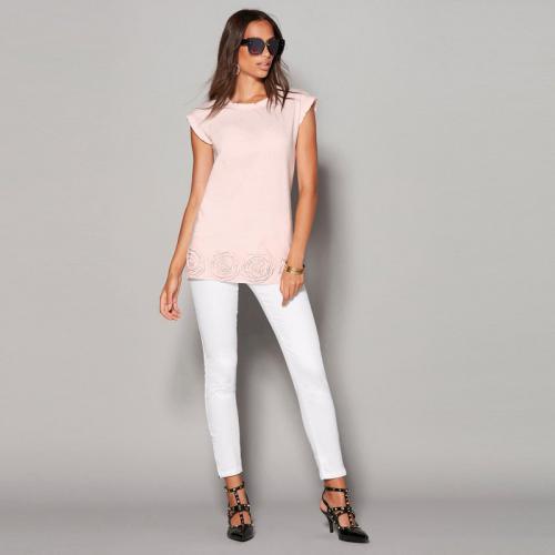 4ebe714cb7a 3 SUISSES - Pantalon 5 poches bas zippés femme - Blanc - Pantalons larges  femme