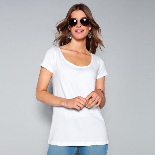 3 Suisses - Tee-shirt manches courtes femme Exclusivité 3SUISSES - Blanc -  Vêtements femme 6ffab722d3fa