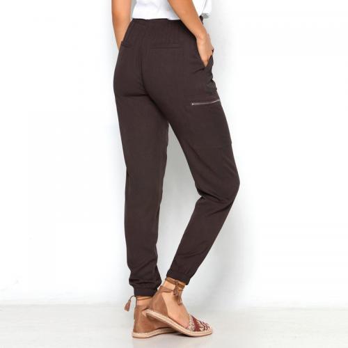 3 SUISSES - Pantalon taille et bas élastiques poches femme Exclusivité  3SUISSES - Chocolat - Pantalons 06178c24441