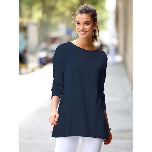 3 SUISSES - Pull manches longues en côtes femme Exclusivité 3SUISSES - Bleu  - Pulls femme 40378dc1211