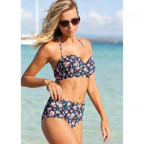 Exclusivité Marine Froncé 3suisses Femme Bikini Imprimé Bleu Bandeau Haute Culotte wzExnqYnPR